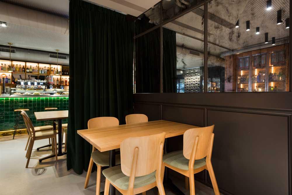Restaurante Green's_Grupo-el-reloj Cristina Ortega Arquitecto