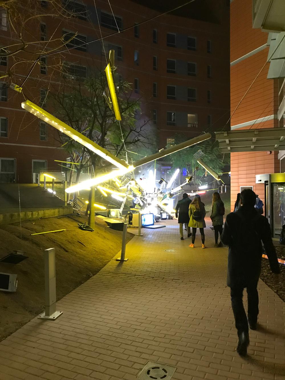 Instalación lumínica en Festival Llum Barcelona 2019